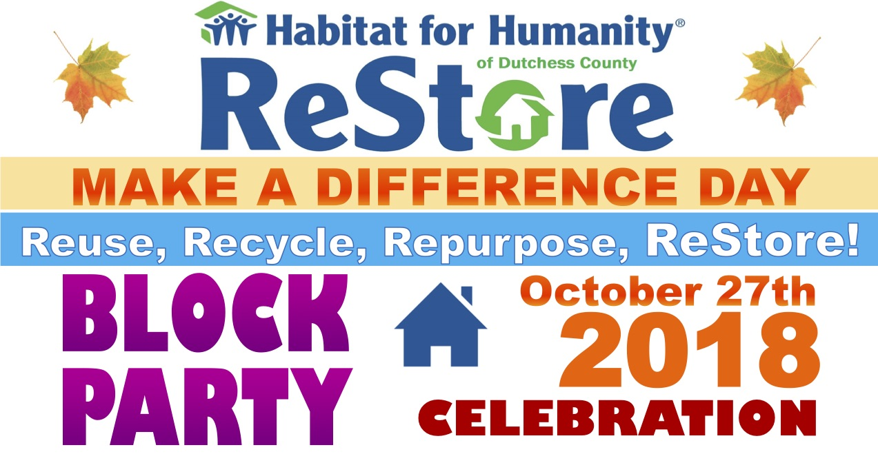 ReStore Make A Difference Day - Reuse, Recycle, Repurpose, ReStore!
