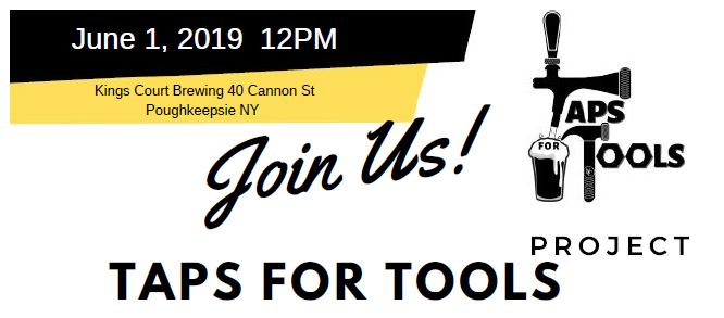 Joins us for Taps for Tools on June 1st 12pm 40 Cannon Street